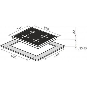 Индукционная поверхность MAUNFELD EVI 594-BK