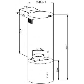 Кухонная вытяжка MAUNFELD LEE WALL 35 белый