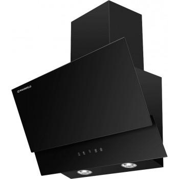Наклонная вытяжка MAUNFELD PLYM Touch 60 чёрная, чёрное стекло