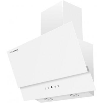 Наклонная вытяжка MAUNFELD PLYM Touch 60 белая, белое стекло