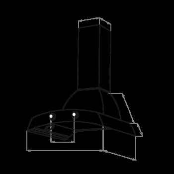Купольная вытяжка MAUNFELD RETRO QUEEN 60 чёрный
