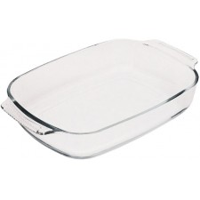 Форма для запекания FISSMAN прямоугольная 30x20x6 см 2,0 л (жаропрочное стекло)