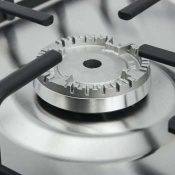 Газовая панель MAUNFELD EGHS.32.3ESD/G декорированная сталь