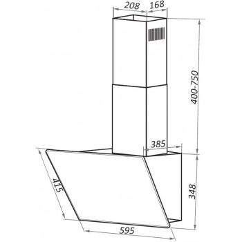Наклонная вытяжка MAUNFELD EAGLE 60 черное стекло