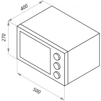 Мини-печь электрическая MAUNFELD CEMOB.363.S1 нержавеющая сталь