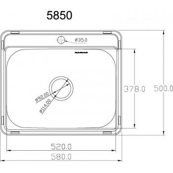Кухонная мойка MATTEO 5850