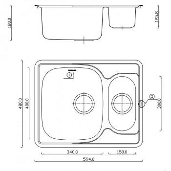 Кухонная мойка MATTEO 5948