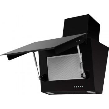 Наклонная вытяжка MAUNFELD ARAKS SBL 600 чёрная, чёрное стекло