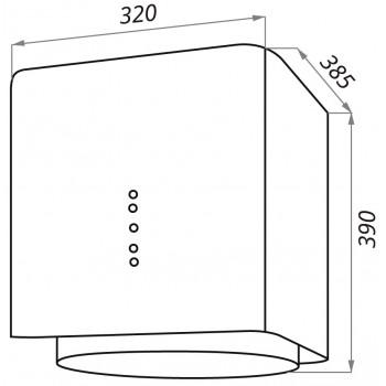 Кухонная вытяжка MAUNFELD BOX Flash 32 черный