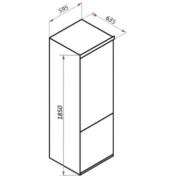 Холодильник MAUNFELD MFF185NFW