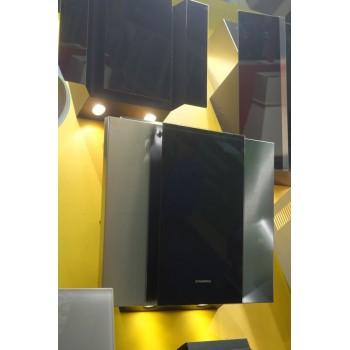Наклонная вытяжка MAUNFELD IRWELL GS 60 нержавейка, чёрное стекло