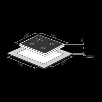 Газовая панель MAUNFELD MGHEV 64 43RBGB