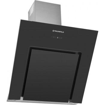 Наклонная вытяжка MAUNFELD MODERN 800 нержавейка, чёрное стекло