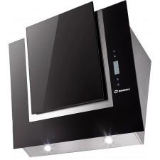Наклонная вытяжка MAUNFELD ENVER 800 нержавейка, чёрное стекло