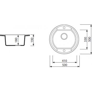 Кухонная мойка MARMORIN OTAGO 505 803 002 GRAFIT