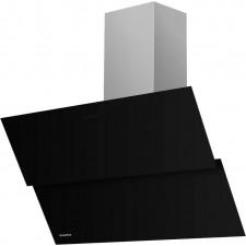 Наклонная вытяжка MAUNFELD PLYM 60 чёрная, чёрное стекло
