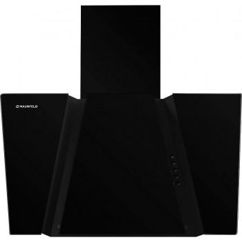 Наклонная вытяжка MAUNFELD SEVERN 600 чёрная, чёрное стекло