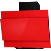 Наклонная вытяжка MAUNFELD TOWER Lux 600 чёрная, красное стекло