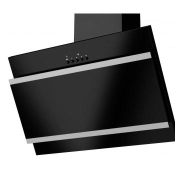 Наклонная вытяжка MAUNFELD TOWER G 600 чёрная + полоски сатин