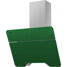 Наклонная вытяжка MAUNFELD TWEED 600 серый, зелёное стекло